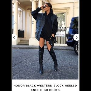 Black Knee High Boots Sz 7